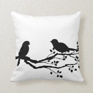 Birds On Branch Reversible Throw Pillows
