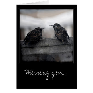 Birds on Missing You greeting card