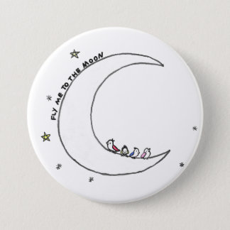 Birds on the Moon pin