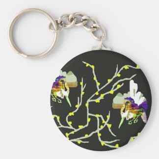 Birds on The Tree Basic Round Button Keychain