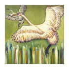 Birds Painting Original Gift for Bird Lovers Canvas Print