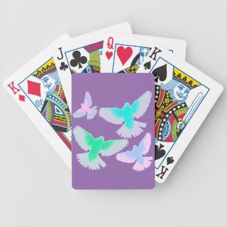 Birds Pastel Bicycle Playing Cards