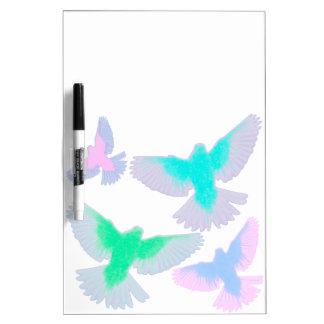 Birds Pastel Dry Erase Board