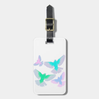 Birds Pastel Luggage Tag