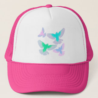 Birds Pastel Trucker Hat