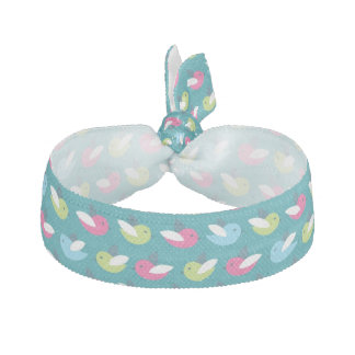 Birds pattern Blue Hair Tie