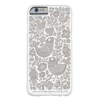 Birds Pattern iPhone 6 Case - light warm grey