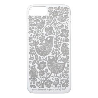 Birds Pattern iPhone 7 Case - light warm grey