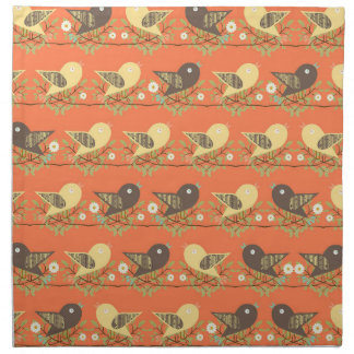 Birds pattern napkin