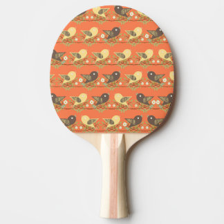 Birds pattern ping pong paddle