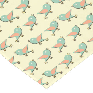 Birds pattern short table runner
