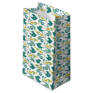 Birds pattern small gift bag