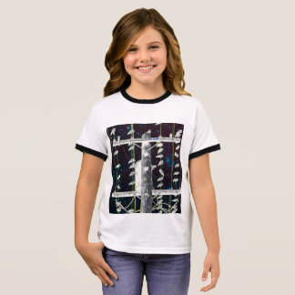 Birds perching on wires: starry fantasy ringer T-Shirt