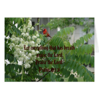 Birds/Psalm 150:6 Card