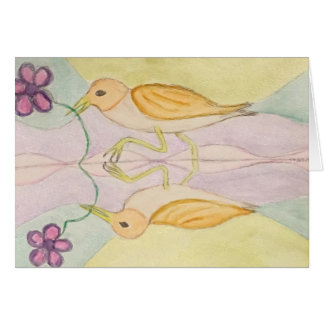 birds reflect card