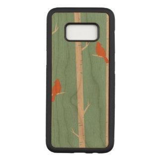 Birds Samsung Galaxy S8 Slim Cherry Wood Case