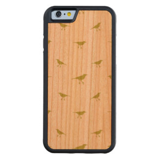 Birds Silhouette Print Carved Cherry iPhone 6 Bumper Case