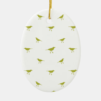 Birds Silhouette Print Ceramic Ornament