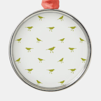 Birds Silhouette Print Metal Ornament