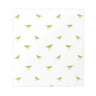 Birds Silhouette Print Notepad