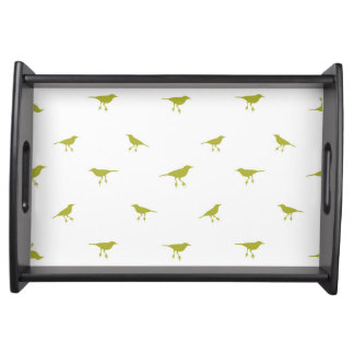 Birds Silhouette Print Serving Tray