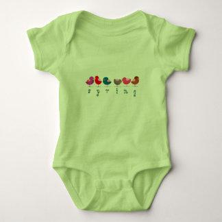 Birds Spring Cute Cartoon Colorful Bright Cheerful Baby Bodysuit