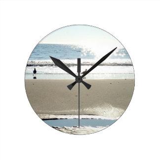 Birds, Sun, And Sea Wall Clock