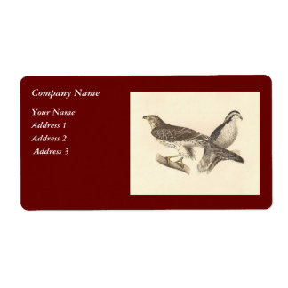 Birds (template for prints) shipping label