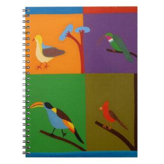Birds that Visit the Valley of Bogota 2008 Spiral Notebook