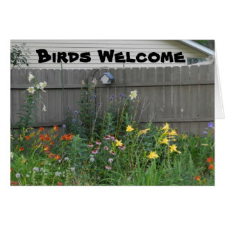 Birds Welcome Card