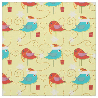 Birds with Christmas gifts Fabric