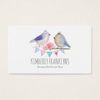 Birds Woodland Wonderland Watercolor Business Card