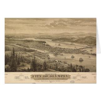 Birdseye view of Olympia, Washington (1879) Card