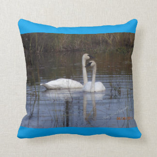 BirdsOfAFeather Swan Pillow
