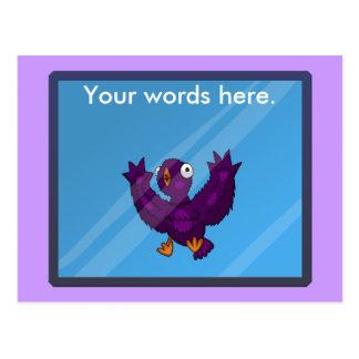 birdsplatter postcard