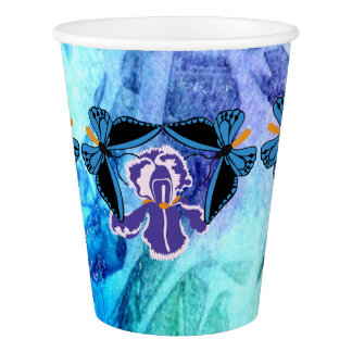 Birdwing Butterfly on Iris Paper Cups Paper Cup