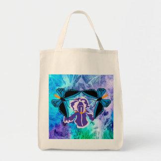 Birdwing Butterfly on Iris Tote Bag