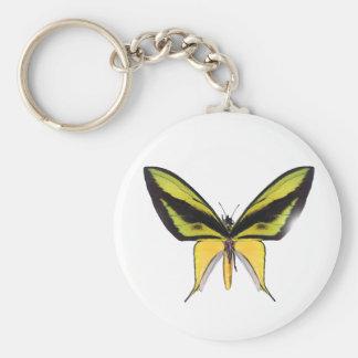BirdWingX Butterfly Basic Round Button Keychain