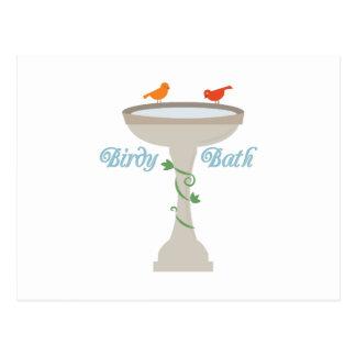 Birdy Bath Postcard