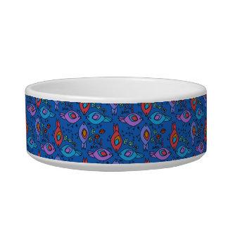 Birdy geometric nature stylish pattern cat food bowls