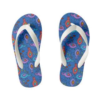 Birdy geometric nature stylish pattern kid's flip flops