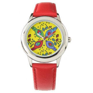 Birdy geometric nature stylish pattern wristwatches