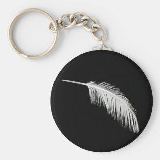 Birdy white feathers keychain
