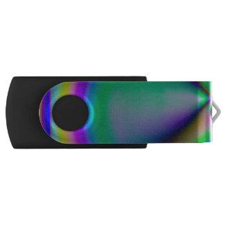 Birefringent pattern swivel USB 3.0 flash drive