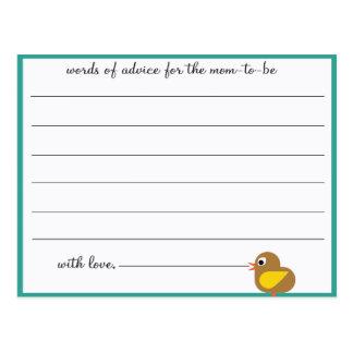 Birie - Baby Shower Advice cards Postcard