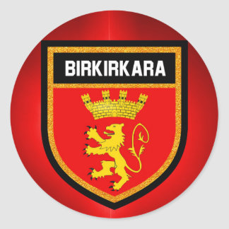 Birkirkara Flag Round Sticker
