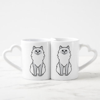 Birman Cat Cartoon Coffee Mug Set