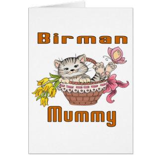 Birman Cat Mom Card