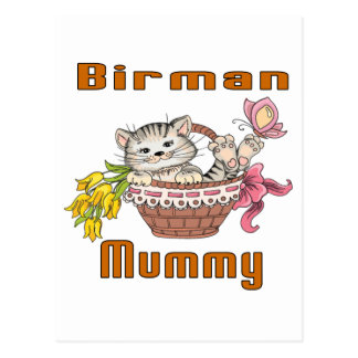 Birman Cat Mom Postcard