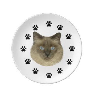 Birman Cat Plate